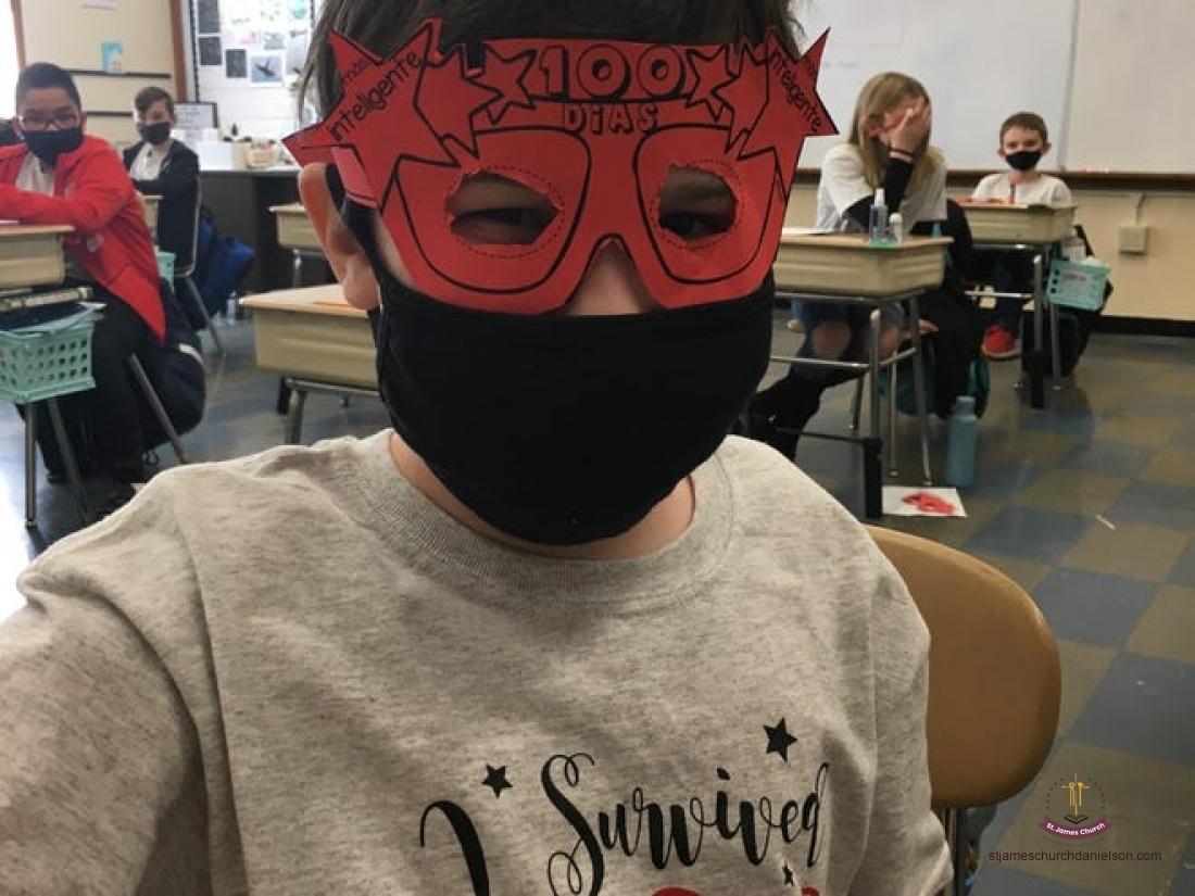 Masked  100 Days - St. James School